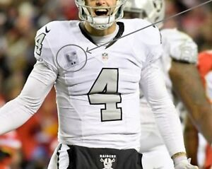 85378254d NFL 2017 SEASON OAKLAND RAIDERS Derek Carr  4 QB COLOR RUSH 2 ...