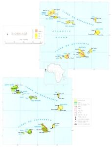 Details about CAPE VERDE ISLANDS. Economy industry trade farming  agriculture 1973 old map