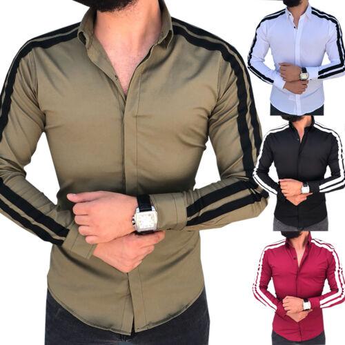 Mens Luxury Dress Shirts Long Short Sleeve Casual Muscle Slim T-shirt Top Tee US