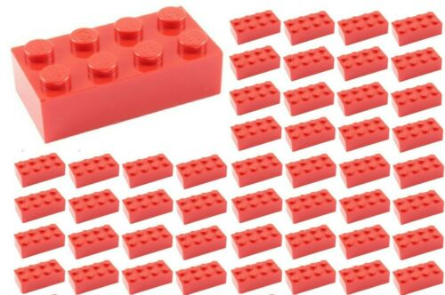 BULK Parts star wars city town ID 3001 ☀️50x NEW LEGO 2x4 RED Bricks