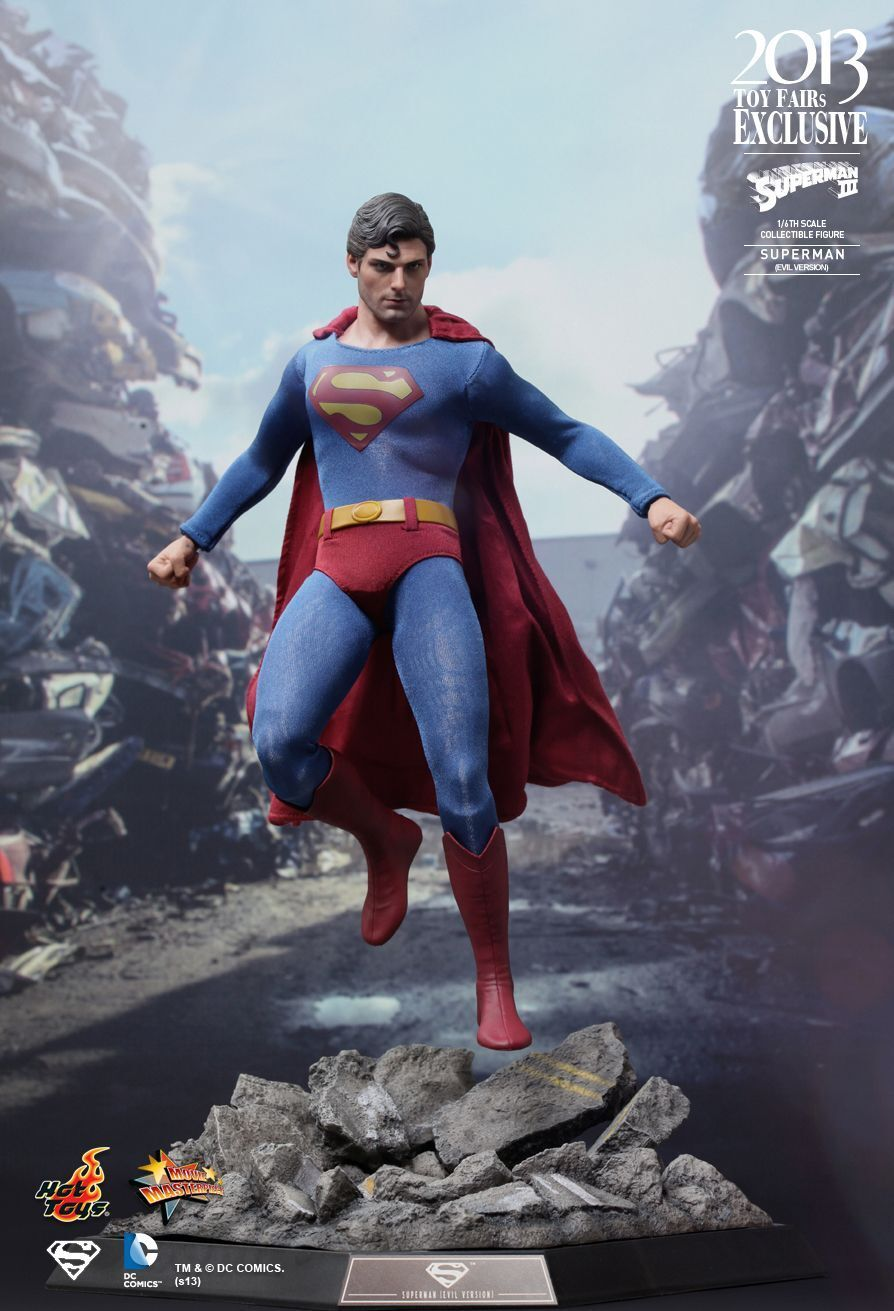 2013 TOY EXCLUSIVE HOT TOYS 1 6 DC SUPERMAN III MMS207 EVIL VER ACTION FIGURE