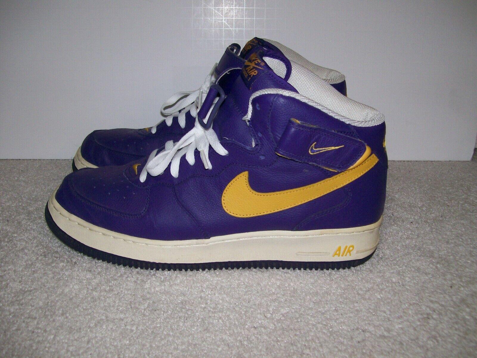 Rare 02 SZ 13 Nike Air Force 1 I One AF1 Purple gold 624039-571 Lakers Kobe Zoom