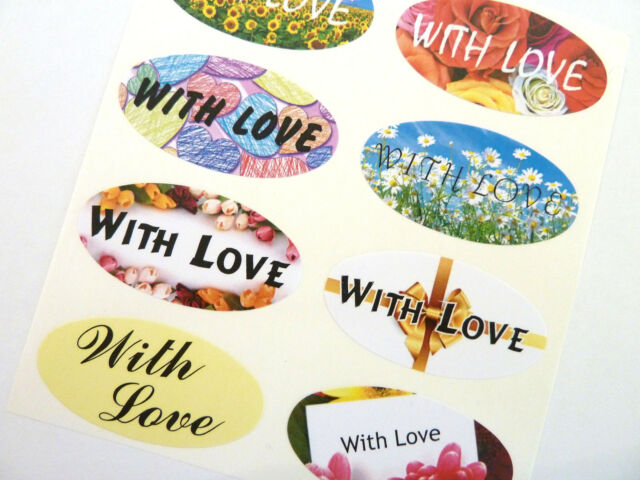 With Love for Envelopes Cards LOVE 12 Love Seal Labels Gifts
