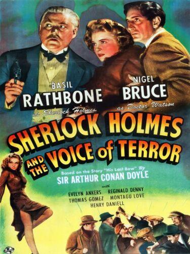 3561.The Voice of Terror film movie POSTER.Sherlock Holmes Room Art decoration