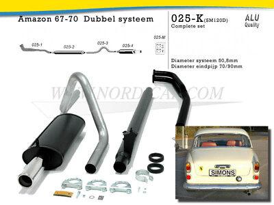 B18 Volvo 663795-KIT Exhaust set single Front pipe Amazon P120 P130 sedan 62-66
