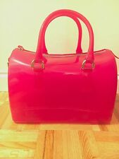 Furla Medium Candy Bauletto Bag in Dragon Fruit Hot Pink PVC