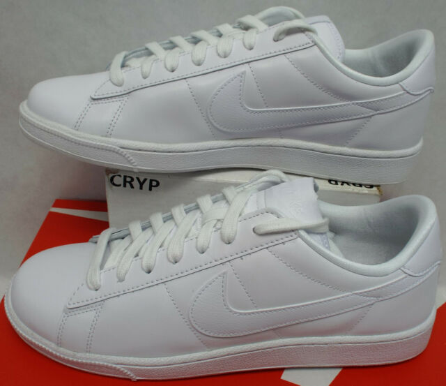 New Womens 10 Nike Tennis Classic White Leather Shoes MSRP $80 312498-129