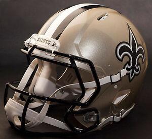 dd1974984ab CUSTOM    NEW ORLEANS SAINTS NFL Riddell Full Size SPEED Football ...