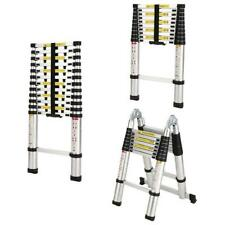 105ft 165ft Telescopic Extension Aluminum Step Ladder Folding Multi Purpose Us
