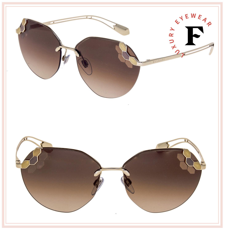 BVLGARI SERPENTI Poisoncandy BV6099 Gold Brown Scales Metal Sunglasses 6099
