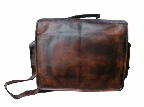 Men/'s Genuine Leather Vintage Laptop Handmade Briefcase Bag Satchel Messenger