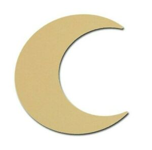 Moon Shape Unfinished Wood Cutouts DIY Crafts Variety of Sizes Artistic Craft Supply