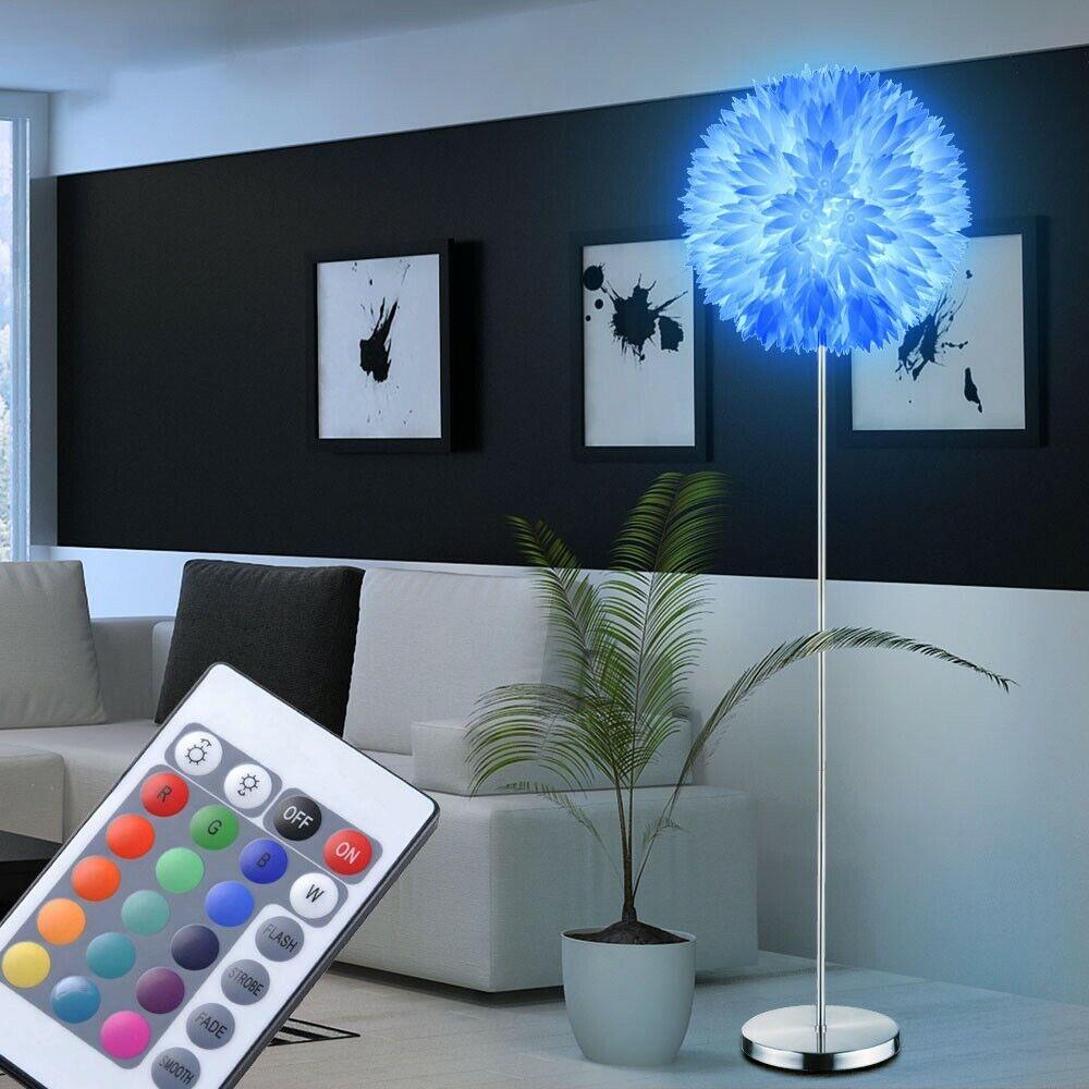 RGB LED Stand Leuchte 9 Watt Küchen Steh Blüten Dimmer Lampe Big Light