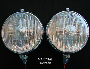 MARCHAL-670-680-5-3-4-034-DRIVING-LIGHTS-WITH-12V-55-WATT-CLEAR-BULBS