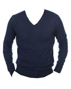 Nachtblau Balldiri Cashmere L 100 Herren Ausschnitt Pullover V UC4vqUw