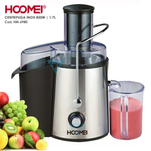 Centrifuga frutta e verdura Acciaio Inox Estrattore di succo a freddo 850W 1.7L