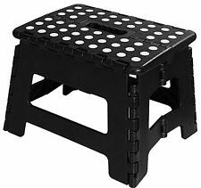 """Folding Step Stool for Kids 11"""" Wide 9"""" Tall Plastic 300lbs Capacity Utopia Home"""