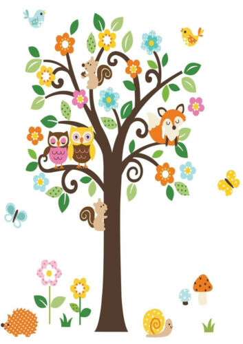 A1 - A5 SIZES AVAILABLE NURSERY TREE /& ANIMAL GLOSSY WALL ART POSTER PRINT