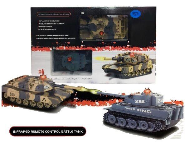 Niños Control Remoto R C infrarrojos-Tanque de Batalla M1A2 paquete doble escala 1 24 Juguete
