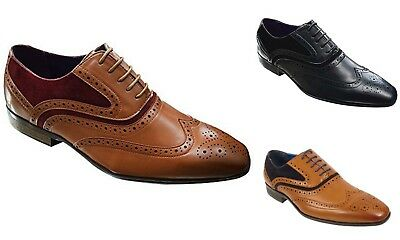 Trendmarkierung Mens Brogue Lace Up Round Toe Wingtip Formal Smart Wedding Office Shoes Belmond