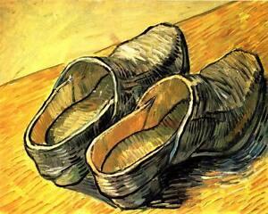 Vincent Van Gogh Art Shoes painting CANVAS ART PRINT Poster 8