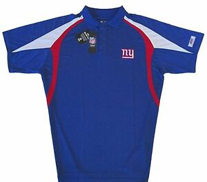 New-York-Giants-NFL-Men-039-s-Moist-Management-Polo-Shirt-Blue-Big-amp-Tall-Sizes-NWT