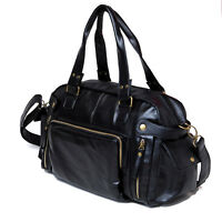 Fashion Men Leather Handbag Gym Duffle Satchel Shoulder Travel Bag Messenger Bag
