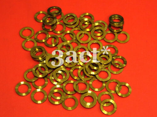 Fit Brake, Stem, Bottle Cage, Shifter 10pcs M8 Titanium Ti Bolt Washer Gold