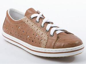 Rieker 950198-21 Sneaker Leder Schnürschuhe Halbschuhe braun Gr.36-42 Neu32