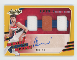 2020-21 Absolute Deni Avdija Tools of the Trade 3 Mem Rookie Patch Auto RPA /199