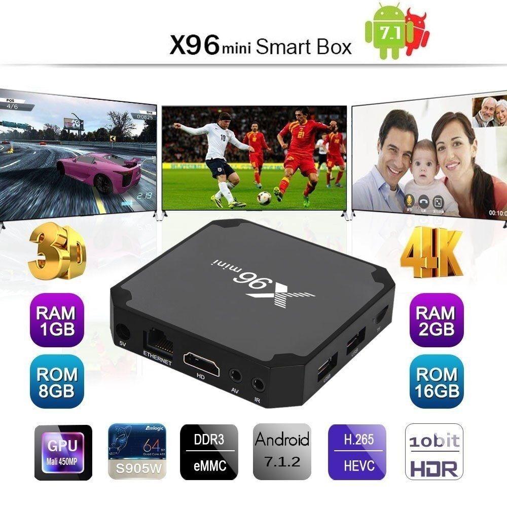 X96 Mini 4K Android7.1 TV Box S905W WIFI 3D HD Media Player Quad-Core