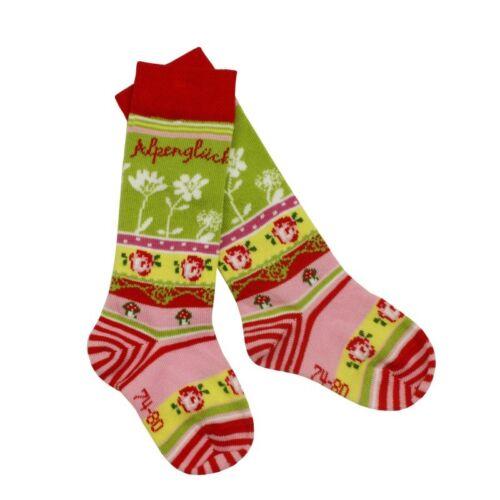 Kidstracht costumes Chaussettes taille 15-30 chaussettes rouge Alpes Bonheur pour pantalon cuir costume traditionnel