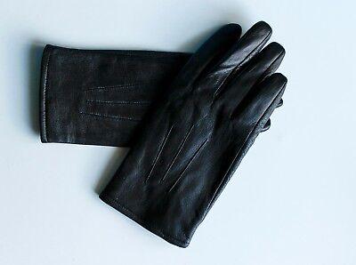 Marchio Popolare Marks & Spencer Guanti In Pelle Donna Taglia L M&s Inverno Nero/-mostra Il Titolo Originale