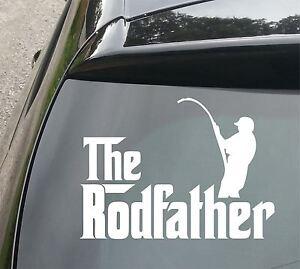 Rodfather-Fishing-Funny-Van-Car-JDM-VW-DUB-VAG-EURO-Vinyl-Decal-Sticker