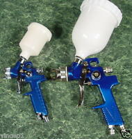 2pc. Hvlp Air Paint Spray Guns Full Size And Mini Tool