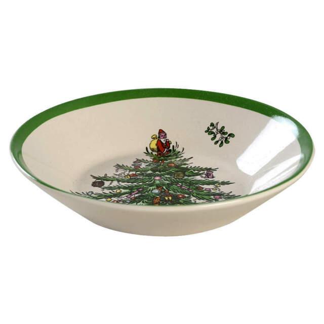 Spode Christmas Tree Sale: Spode Christmas Tree Green Trim Fruit Dessert Sauce Bowl