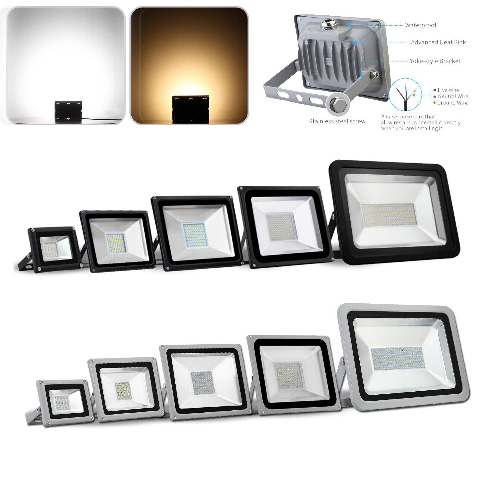 LED Fluter 10W 20W 30W 50W 100W 500W 800W 1000W SMD Außen Flutlicht 220V IP65