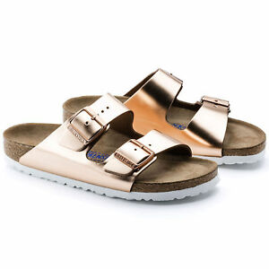 e39fc6e38a9 Image is loading BIRKENSTOCK-ARIZONA-COPPER-METALLIC-LEATHER-WOMEN-039-S-