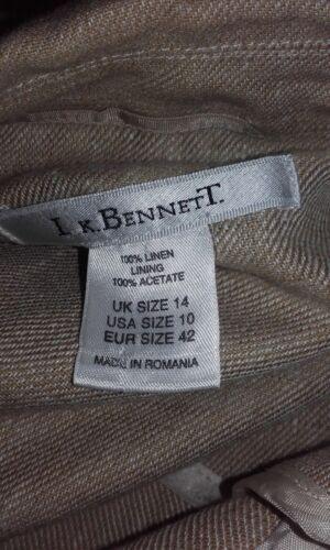 lange met stenen jas 14 Prachtig Ongevoerd Maat L Linnen k mouw Bennett Beige RyR8OwFq