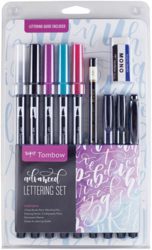 Tombow Dual Brush Pen Art Markers Advanced Lettering Set, Brand New Sealed Pack!