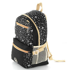 d9c8a35b8f79 3 Fashion Women Girls Travel Canvas Rucksack Backpack School Shoulder Bag UK