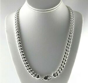 Heavy-10mm-Solid-925-Sterling-Silver-Miami-Cuban-Link-Curb-Chain-24-034-30-034-Italy