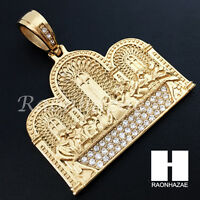 Mens Iced Out Stainless Steel Gold Silver Last Supper Charm Pendant Ss006