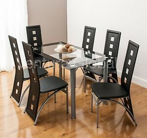 Gl Dining Room Table Set And 4 Or