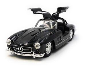 Model-Car-Mercedes-Benz-300-Sl-Oldtimer-Black-Car-1-3-4-39-Licensed
