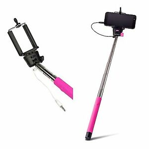 selfie stick monopod with built in button remote on stick samsung galaxy s5 s6. Black Bedroom Furniture Sets. Home Design Ideas