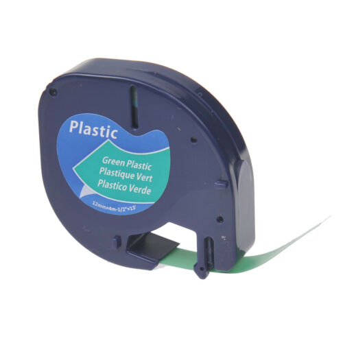 Fabric Label Tapes 13ft//6.5ft Compatible for Dymo LetraTAG Plastic Paper