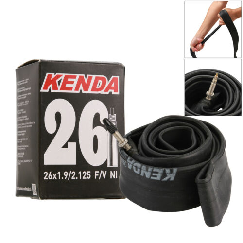 Kenda Presta F//V 26 x 1.9//2.125 Mountain Bike MTB Butyl Rubber Inner Tube New