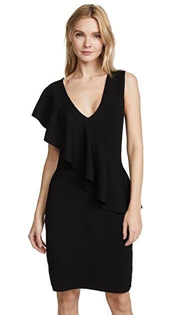NWT 398 Diane von Furstenberg DVF Asymmetric Ruffle Front Dress S