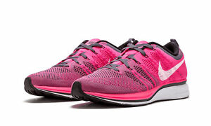 506d8d48d397b New Nike Flyknit Trainer Pink Flash White Dark Grey Men s Size 6 ...